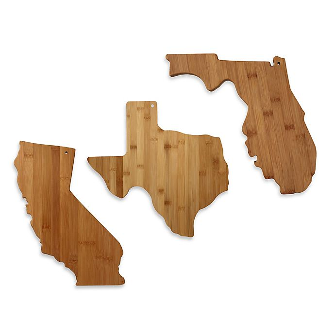 Totally Bamboo State Shaped Cutting Serving Board