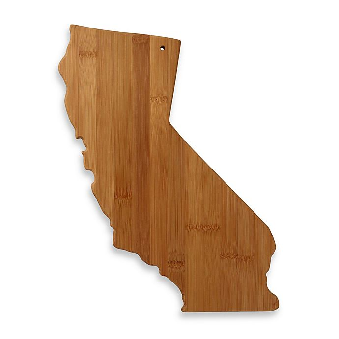 Alternate image 1 for Totally Bamboo California State Shaped Cutting/Serving Board