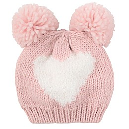 Addie & Tate Heart Hat in Pink