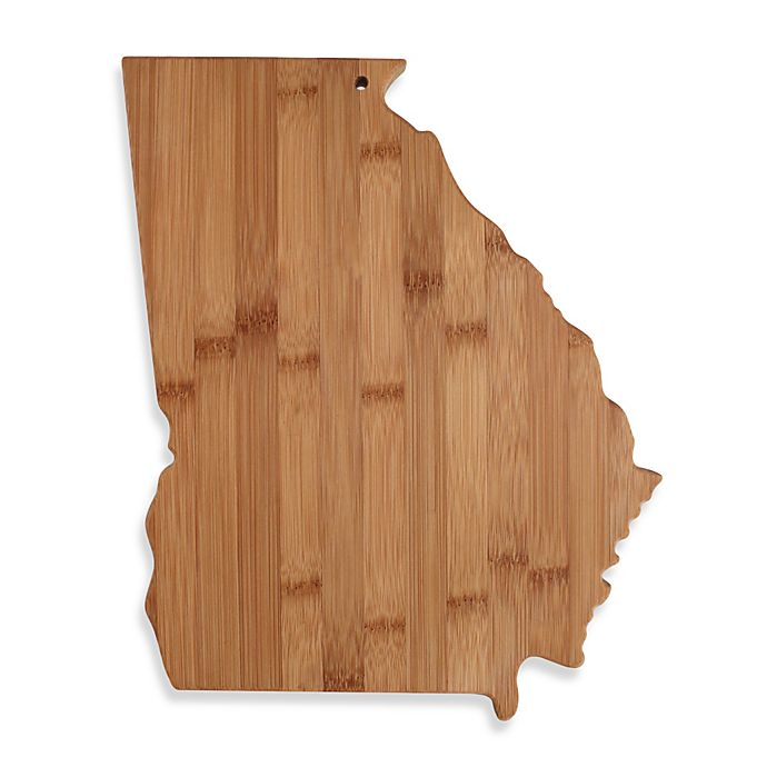 Alternate image 1 for Totally Bamboo Georgia State Shaped Cutting/Serving Board