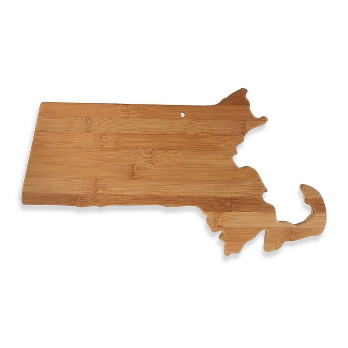 Alternate image 1 for Totally Bamboo Massachusetts State Shaped Cutting/Serving Board