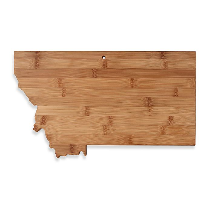 Alternate image 1 for Totally Bamboo Montana State Shaped Cutting/Serving Board