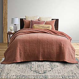 Bee & Willow™ Home Hand-Quilted Velvet King Quilt Set in Dusty Pink