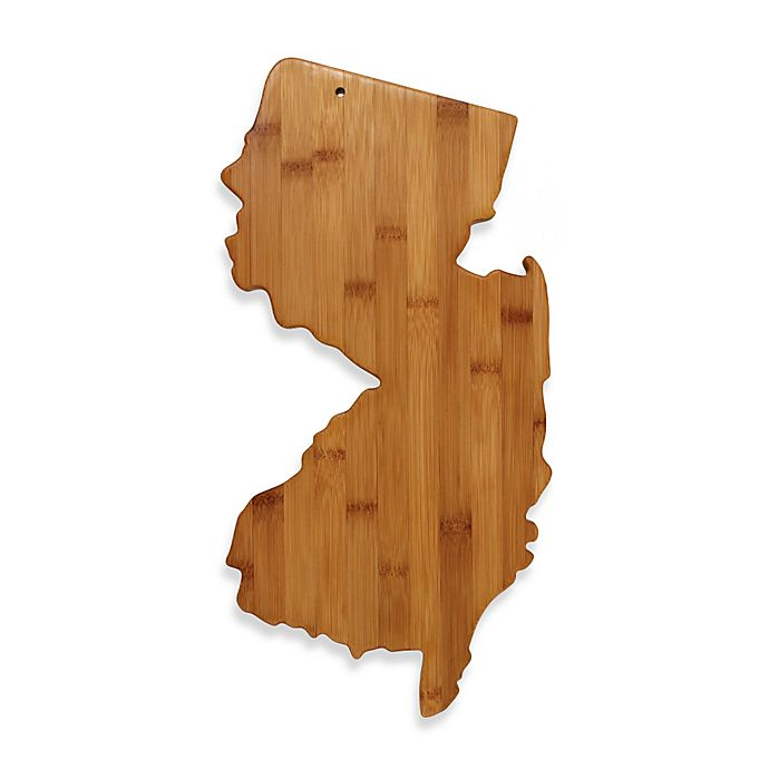 Alternate image 1 for Totally Bamboo New Jersey State Shaped Cutting/Serving Board