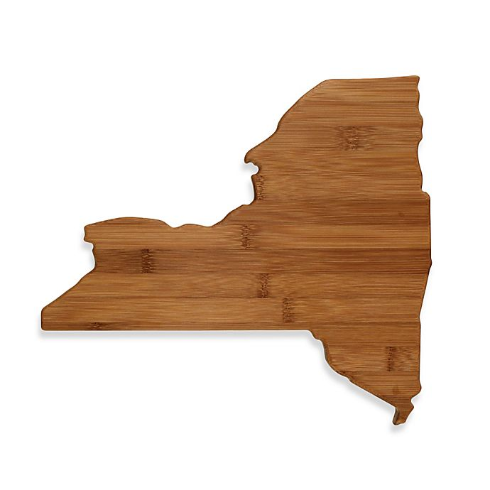 Alternate image 1 for Totally Bamboo New York State Shaped Cutting/Serving Board