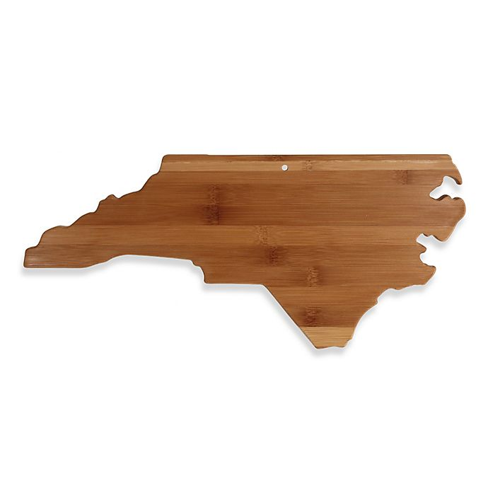 Totally Bamboo North Carolina State Shaped Cutting Serving Board