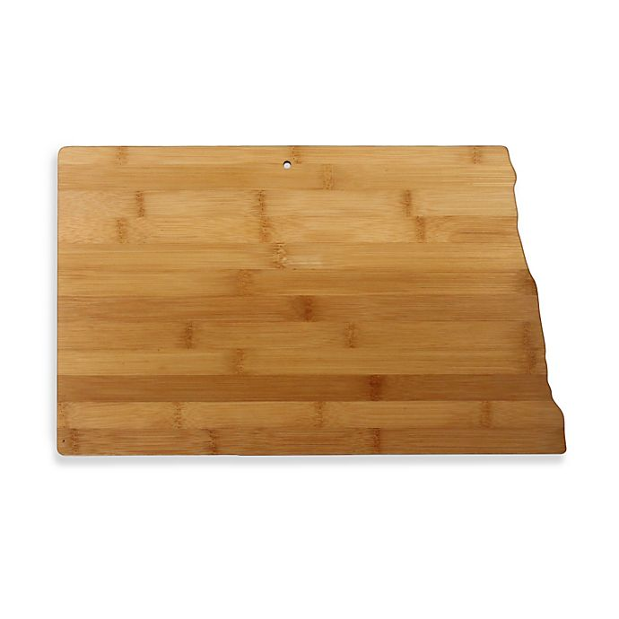 Alternate image 1 for Totally Bamboo North Dakota State Shaped Cutting/Serving Board