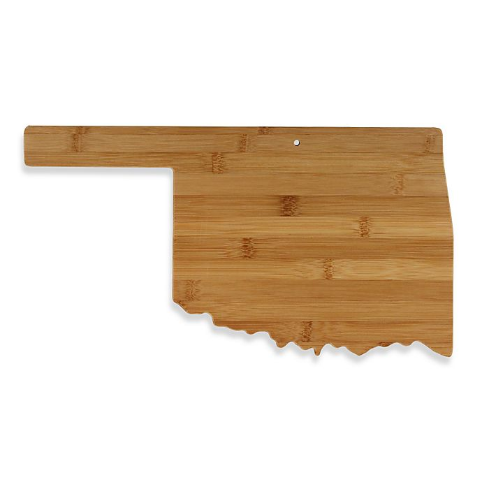 Alternate image 1 for Totally Bamboo Oklahoma State Shaped Cutting/Serving Board