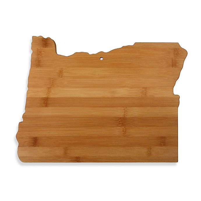 Alternate image 1 for Totally Bamboo Oregon State Shaped Cutting/Serving Board