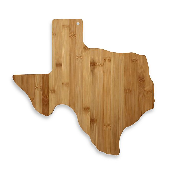 Alternate image 1 for Totally Bamboo Texas State Shaped Cutting/Serving Board