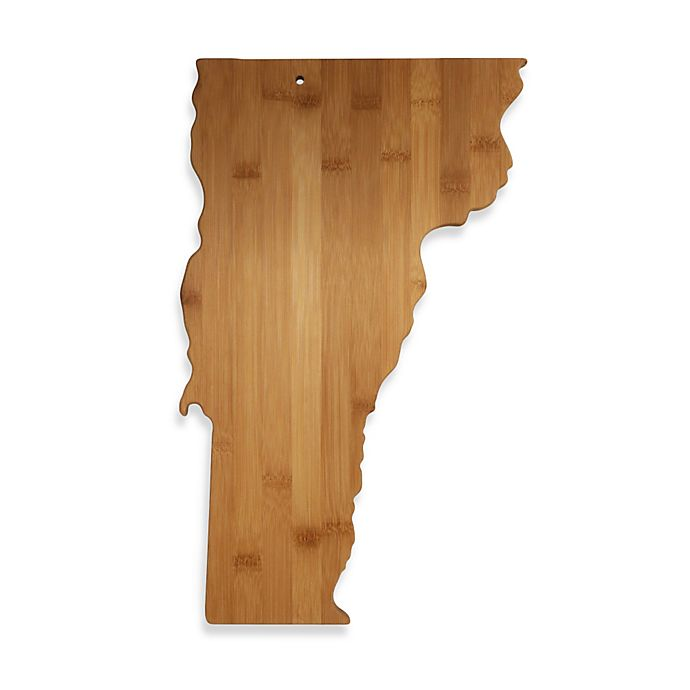 Alternate image 1 for Totally Bamboo Vermont State Shaped Cutting/Serving Board