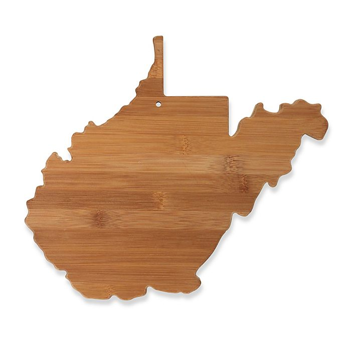 Alternate image 1 for Totally Bamboo West Virginia State Shaped Cutting/Serving Board
