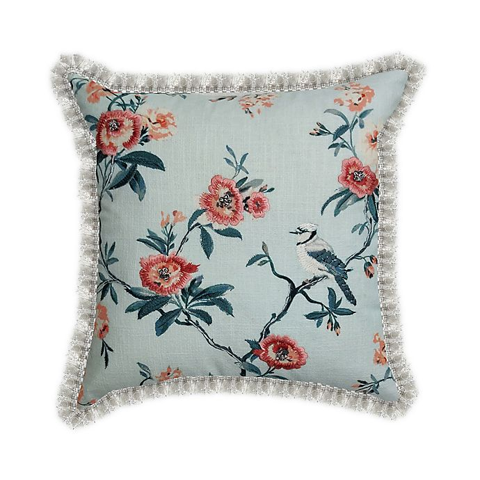 Alternate image 1 for Wamsutta® Peony Branch Throw Pillow in Pink