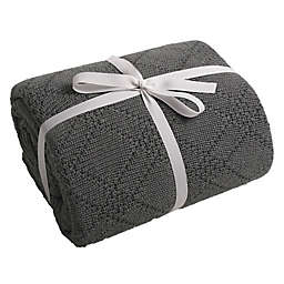 Cariloha Reversible Diamond Weave Quilted Throw Blanket