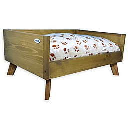 IconicPet Raised Wooden Pet Bed with Cushion