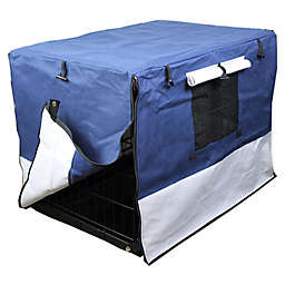 IconicPet Water-Resistant Pet Crate Cover in Blue