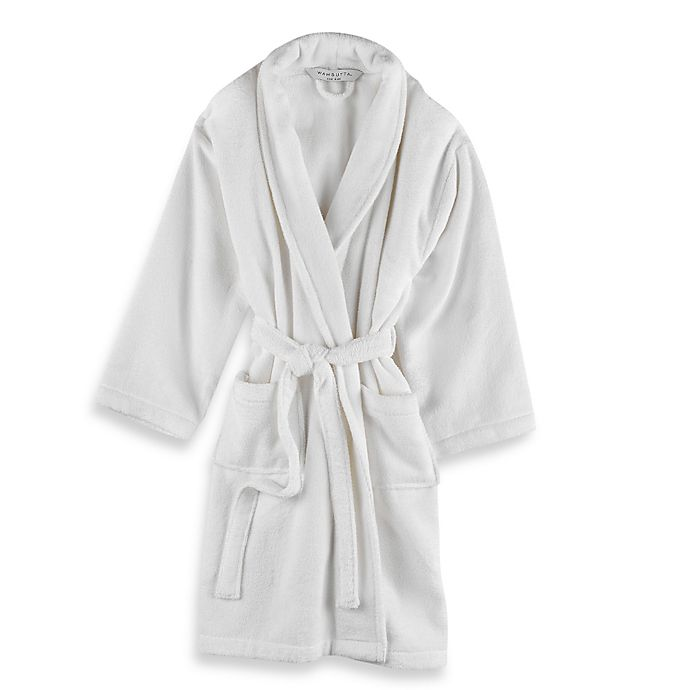 Alternate image 1 for Wamsutta® Unisex Terry Bathrobe in White