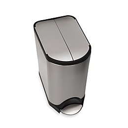 simplehuman® Brushed Stainless Steel Fingerprint-Proof 20-Liter Butterfly Step Trash Can
