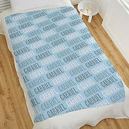 Modern Boy Name Personalized Fleece Blanket