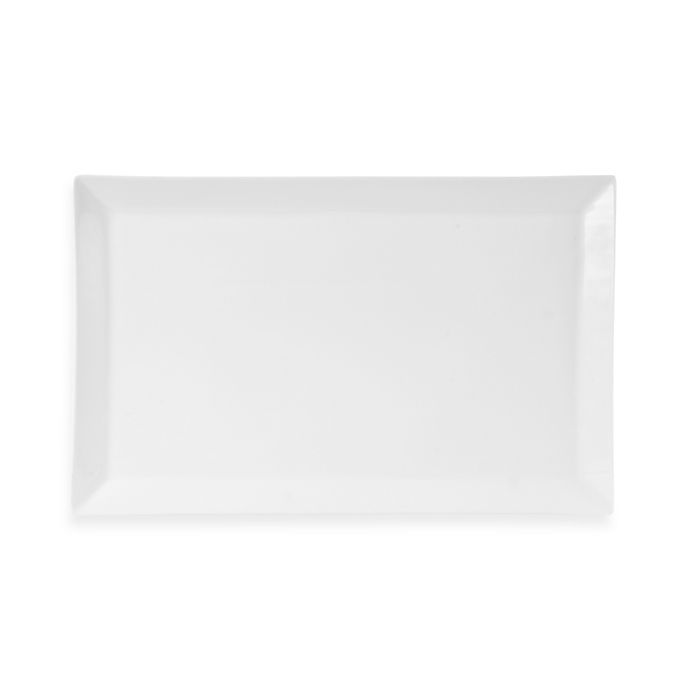 Alternate image 1 for Everyday White® by Fitz and Floyd® Rim 18-Inch Rectanglular Platter