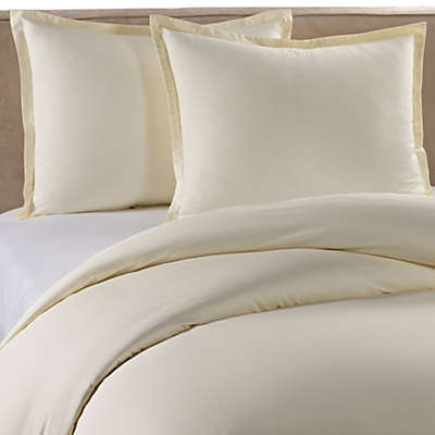 Pure Beech Percale Duvet Cover Set in Cream