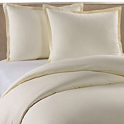 Pure Beech Percale King Duvet Cover Set in Cream
