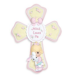 Precious Moments® Jesus Loves Me Girl Cross with Easel Stand
