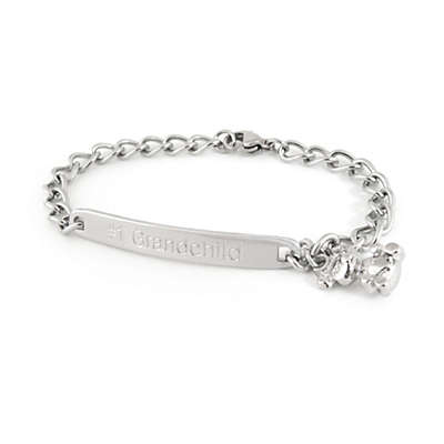 Speidel My First ID Bracelet with Teddy Bear Charm