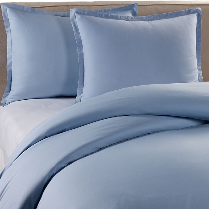 Alternate image 1 for Pure Beech Percale Duvet Cover Set in Blue