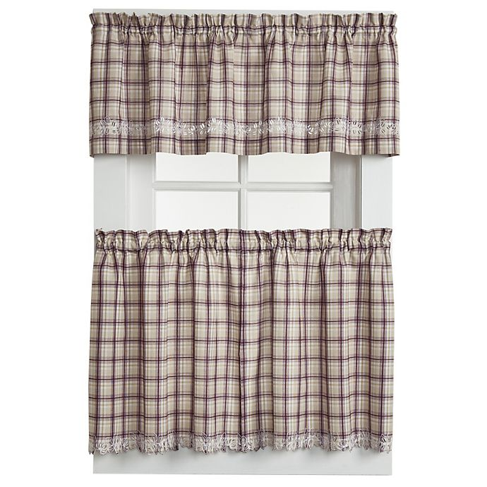 Alternate image 1 for Dover Window Curtain Tier Pairs in Burgundy