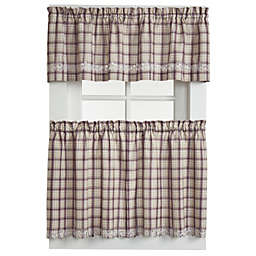 Dover 24-Inch Window Curtain Tier Pairs in Burgundy
