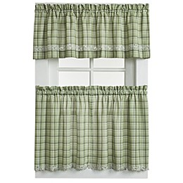 Dover Window Curtain Tier Pair in Green