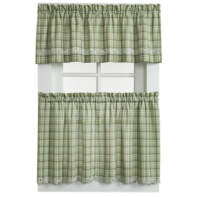 Alternate image 1 for Dover Window Curtain Tier Pair in Green