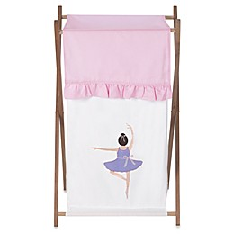 Sweet Jojo Designs Ballerina Laundry Hamper in Pink