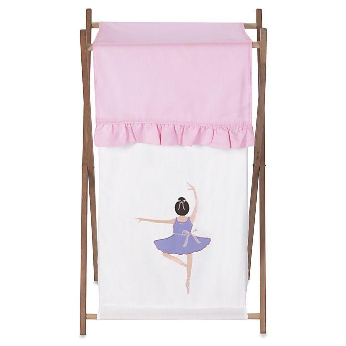 Alternate image 1 for Sweet Jojo Designs Ballerina Laundry Hamper in Pink