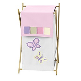 Sweet Jojo Designs® Butterfly Laundry Hamper in Pink/Purple