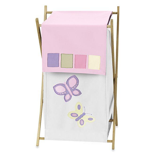 Alternate image 1 for Sweet Jojo Designs® Butterfly Laundry Hamper in Pink/Purple