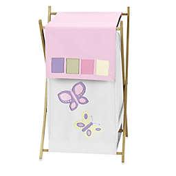 Sweet Jojo Designs® Butterfly Laundry Hamper in Pink/Purple