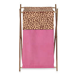 Sweet Jojo Designs Cheetah Girl Laundry Hamper in Pink