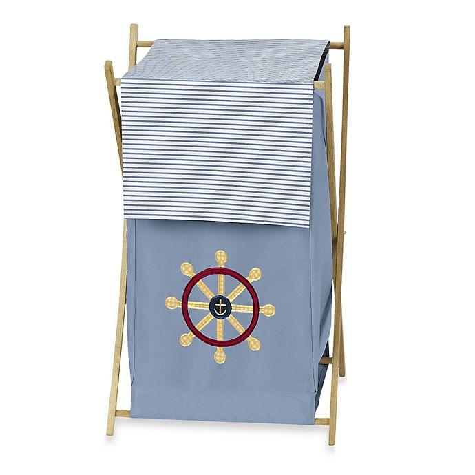 Alternate image 1 for Sweet Jojo Designs Come Sail Away Laundry Hamper in Blue