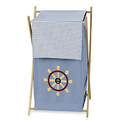 Sweet Jojo Designs Come Sail Away Laundry Hamper in Blue