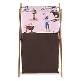 Sweet Jojo Designs® Cowgirl Laundry Hamper in Pink/Brown