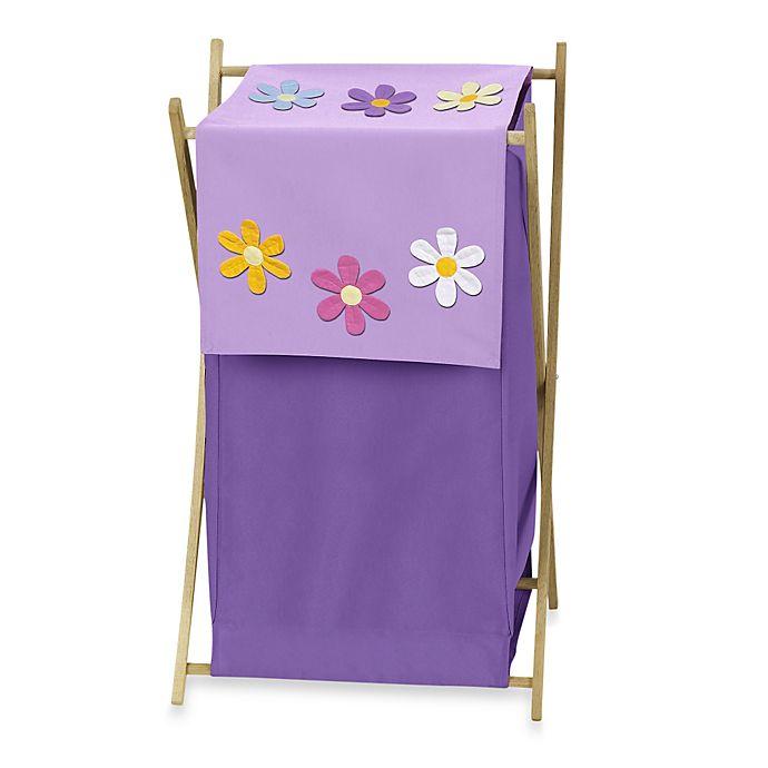 Alternate image 1 for Sweet Jojo Designs Danielle's Daisies Laundry Hamper in Purple