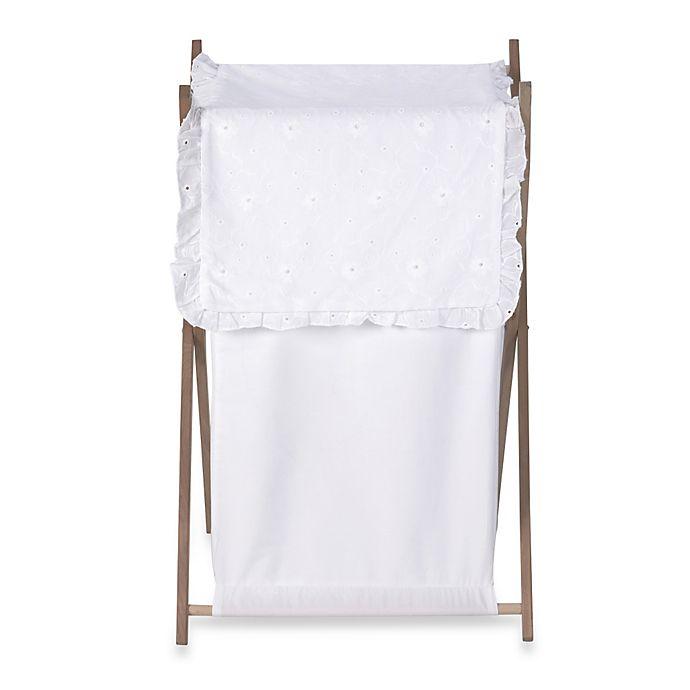 Alternate image 1 for Sweet Jojo Designs Eyelet Laundry Hamper in White