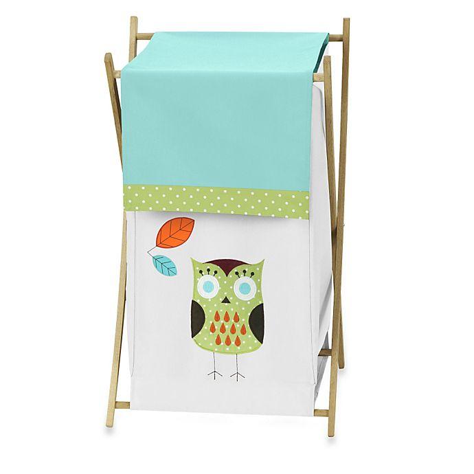 Alternate image 1 for Sweet Jojo Designs® Hooty Laundry Hamper in Turquoise/Lime