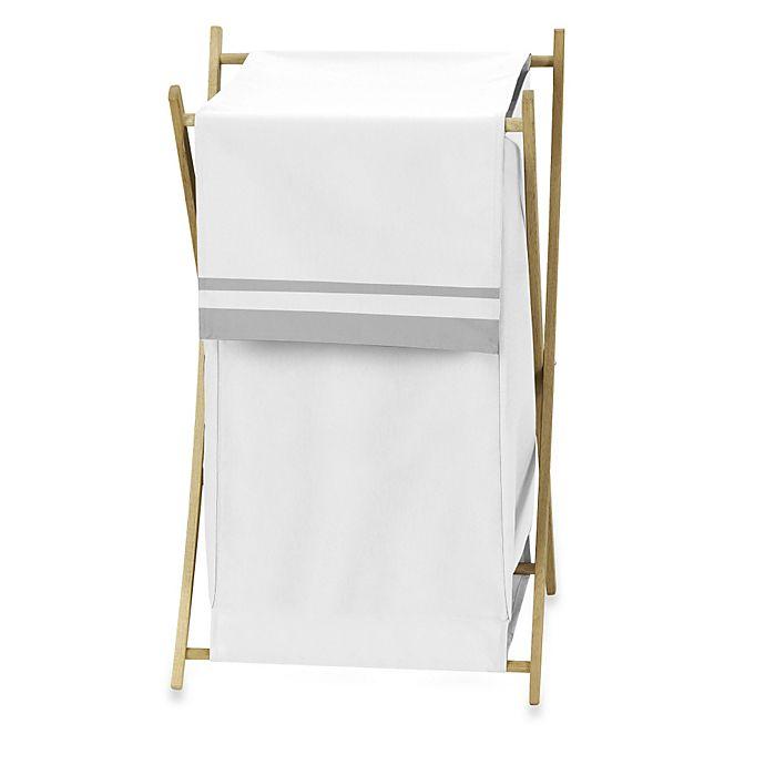 Alternate image 1 for Sweet Jojo Designs Hotel Laundry Hamper in White/Grey