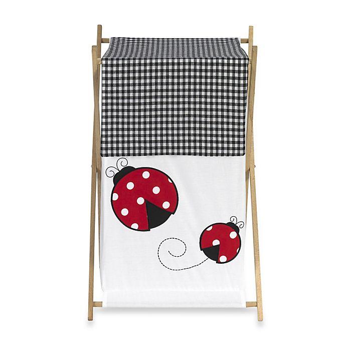 Alternate image 1 for Sweet Jojo Designs Polka Dot Ladybug Laundry Hamper