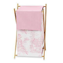 Sweet Jojo Designs French Toile Laundry Hamper in Pink/White