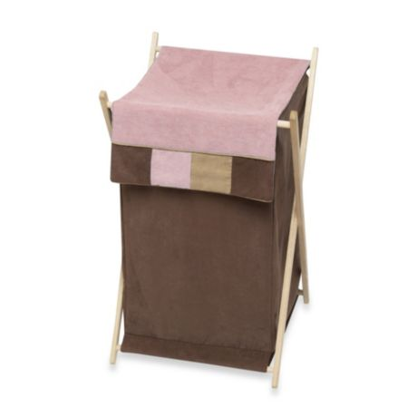 Sweet Jojo Designs Soho Laundry Hamper In Pink Brown