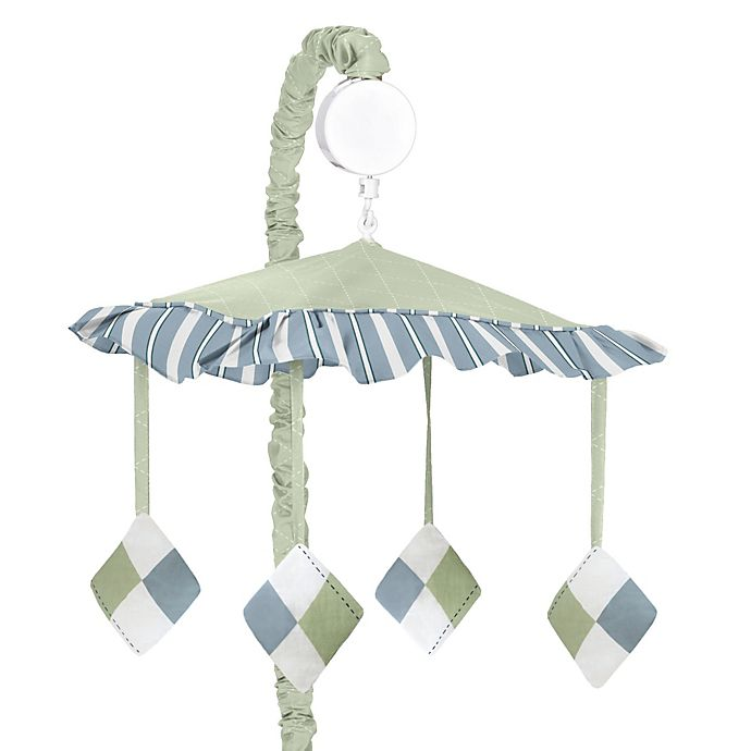 Sweet Jojo Designs Argyle Musical Mobile In Blue Green